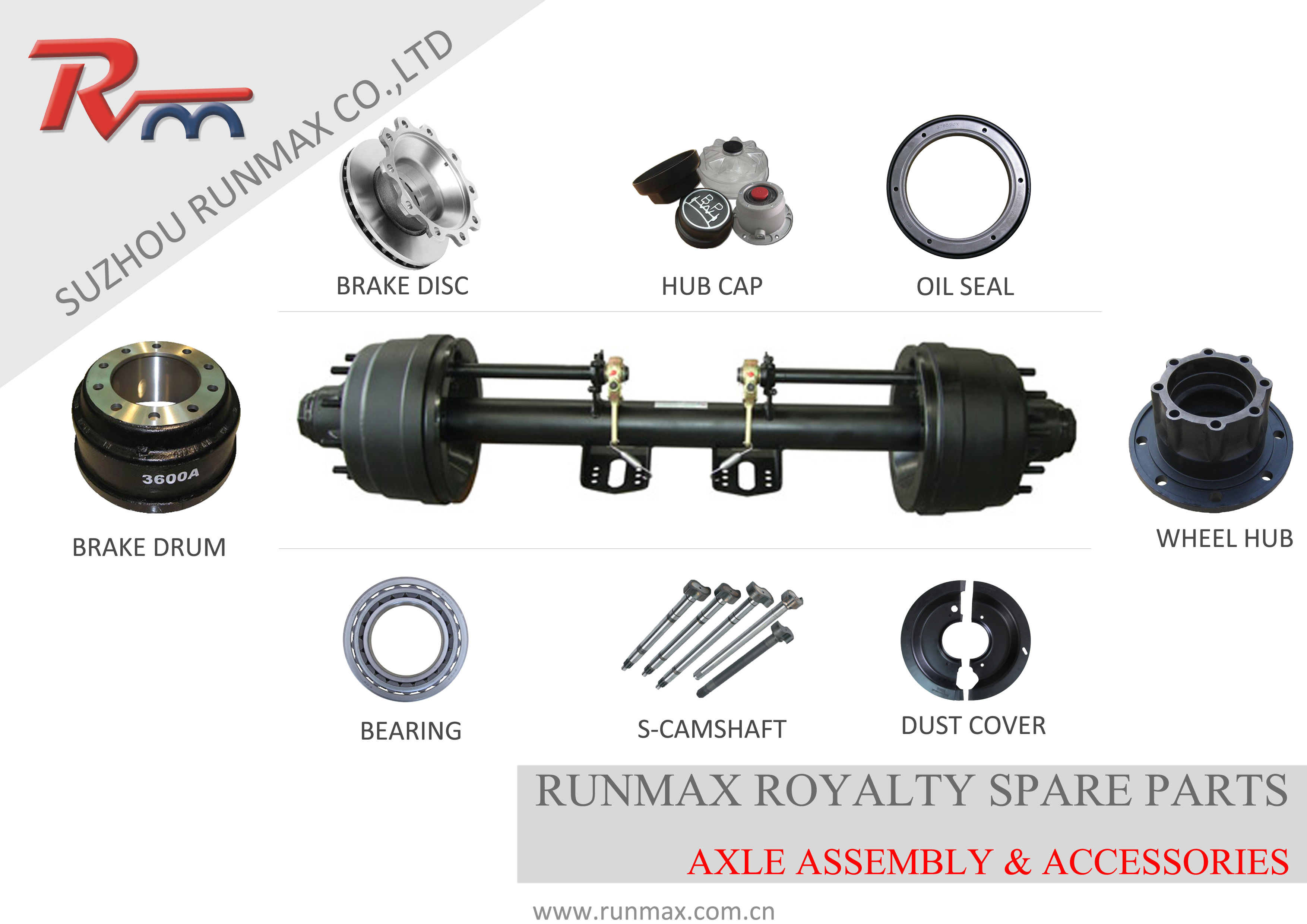 RUNMAX AXLE ASSEMBLY AND ACCESSORIES